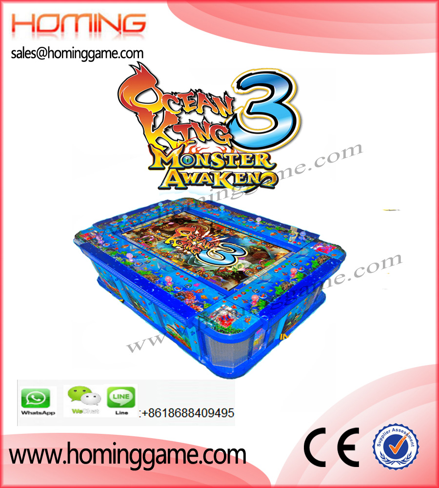 Igs ocean king 3 monster awaken fishing table game machine for Ocean king fish game