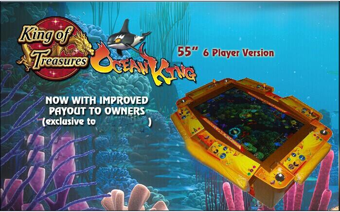 King of treasure fishing game machine treasure king for Ocean king fish game