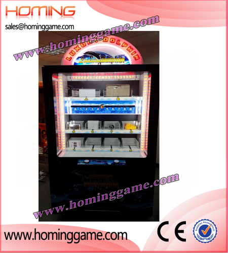 luxury dolpin icube prize game machine,icube prize game machine,prize redemption game machine,game machine,arcade game machine,coin operated game machine,electrical slot game machine,indoor game machine,amsuement machine,amusement park game equipment,gift game machine,prize vending machine,vending machine,vendor game machine,key master prize game machine,barber cut prize game machine