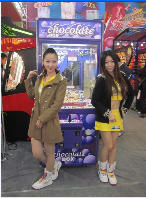 chocolate crane machine,chocolate castle box game machine