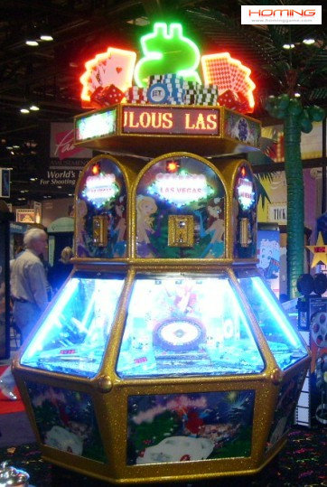Las Vegas coin pusher,arcade pusher machine, coin pusher with wheel machines