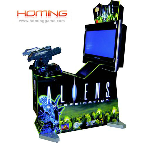 Aliens gun shooting  game machine,arcade video game machine,simulator