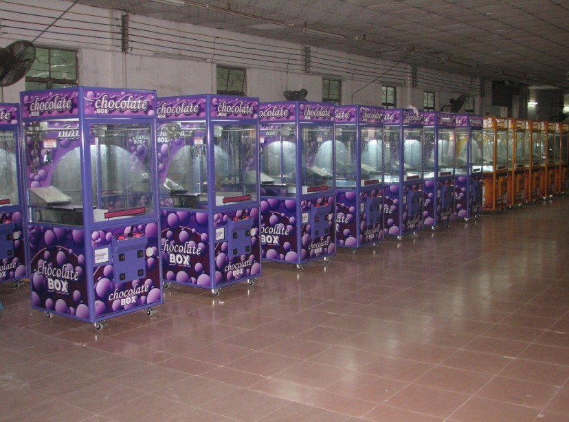 Purple chocolate crane machine production line