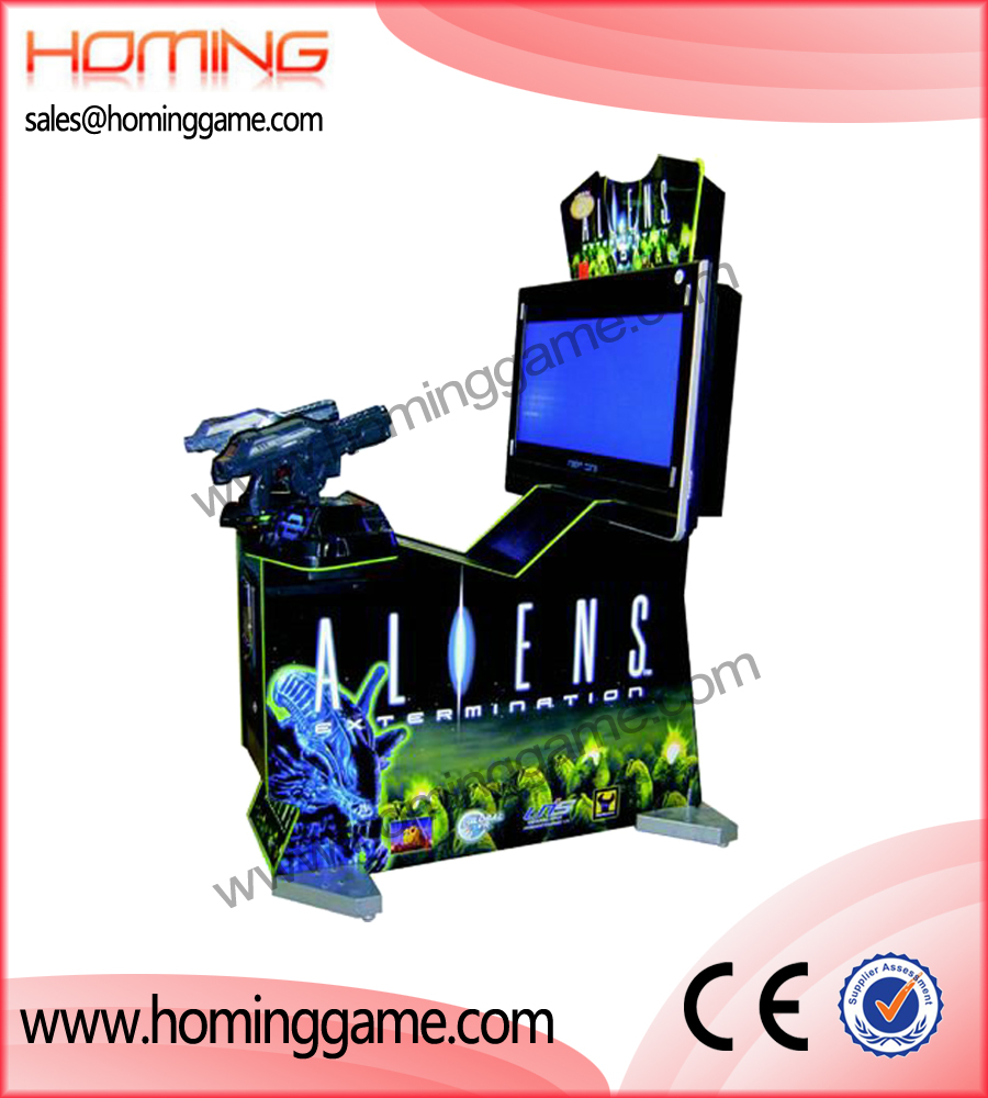 aliens gun shooting game machine,simulator game machine,game machine,arcade game machine,coin operated game machine,game equipment