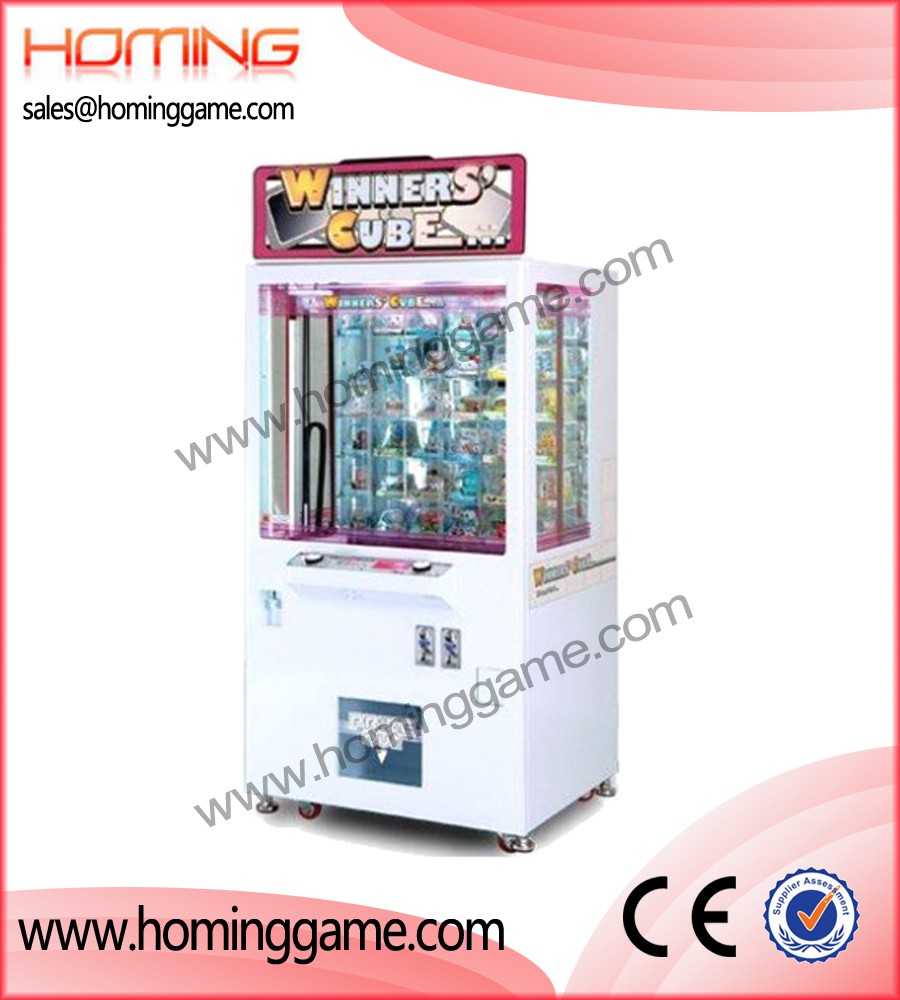 winner cube prize game machine,prize game machine,prize vending machine,vending game machine,game machine,arcade game machine,coin operated game machine,game equipment,amusement machine,amusement game equipment