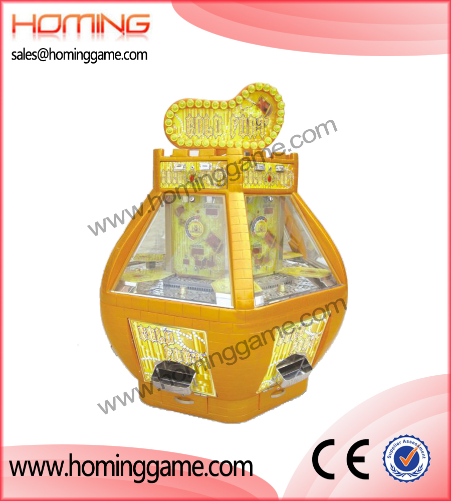 Gold Fort coin pusher,coin pusher game machine,game machine,arcade game machine,coin operated game machine,amusement machine,amusement game equipment,electrical slot game machine