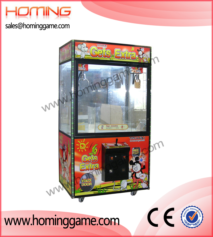 42' Gets extra double claws crane machine,crane game machine,game machine,arcade game machine,coin operated game machine,amusement game equipment,game equipment,coin machine,electrical slot game machine,gift game machine,prize vending machine