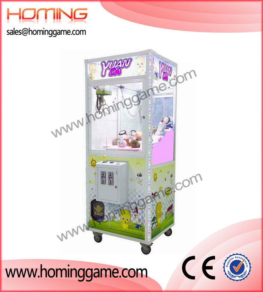 YuanDa crane machine,crane machine,prize game machine,game machine,arcade game machine,coin operated game machine,indoor game machine,amusement game equipment,amusment machine,electrical slot game machine,vending machine