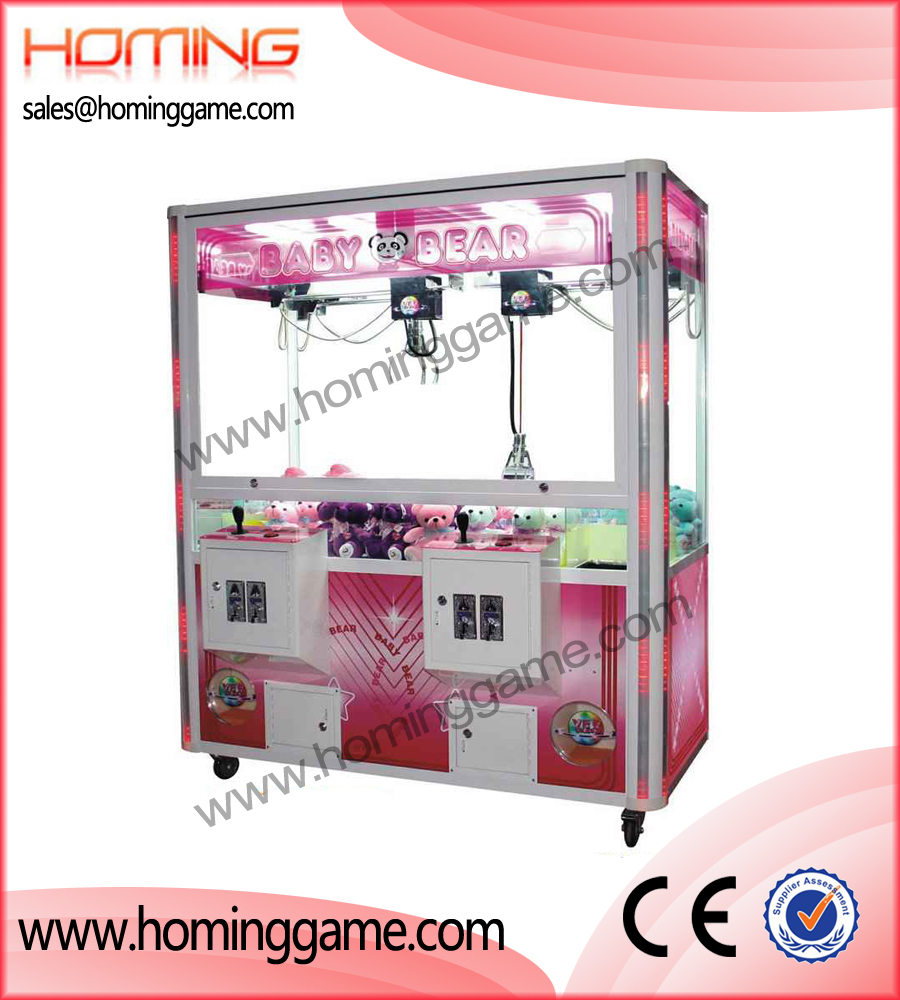 Double player crane machine,crane machine,game machine,coin operated game machine,amusement game equipment,indoor game machine,arcade game machine,gift game machine,prize game machine,vending machine,vending game machine
