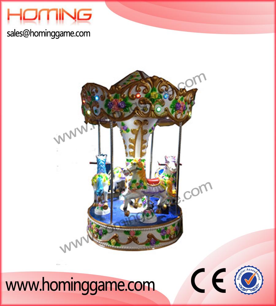 Carousel Horse rides(4 players),game machine,amusement game equipment,amusement machine,amusement park game equipment ,outdoor game machine