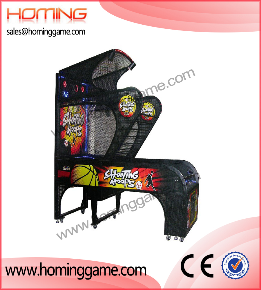 Shooting hoops basketball game machine,basketball game machine,game machine,arcade game machine,coin operated game machine,indoor game machine,amusement game,amusement machine,redemption game machine
