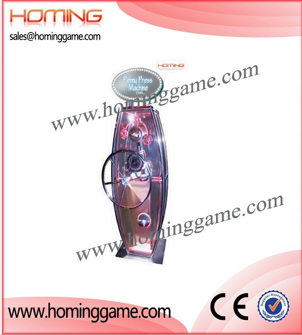 penny press prize game machine,prize game machine,vending machine,vending game machine,gift game machine,game machine,arcade game machine,coin operated game machine,amsuement game equipment,amusement games,electrical slot game machine,indoor game machine,amusement park game equipment